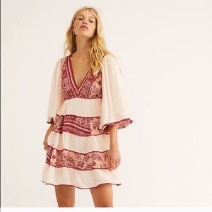 NEW Free People Pink Red My Love Mini Dress